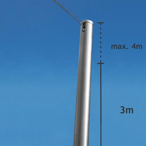 Aufpreis pro Edelstahlmast für Überlänge ab 301cm Länge für SHADE Inox Sonnensegel