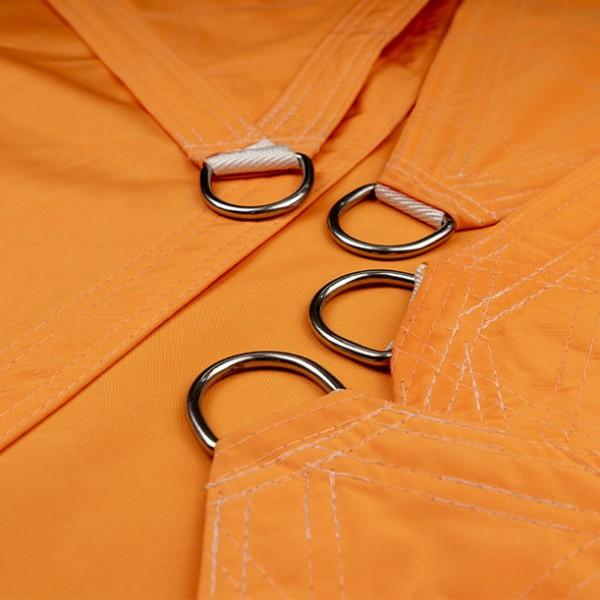 Vierecksegel nach Maß wasserabweisend »587x553x183x450cm - Desert Orange »Sunsilk Nano| Fundgrube