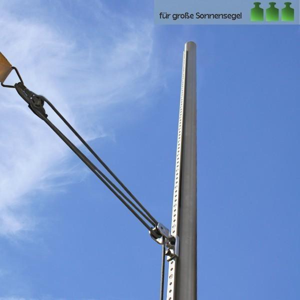 sonnensegel mast mit individueller h heneinstellung online bestellen pina. Black Bedroom Furniture Sets. Home Design Ideas