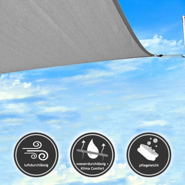 Dreieck-Sonnensegel | gleichschenklig | wasserdurchlässig NET