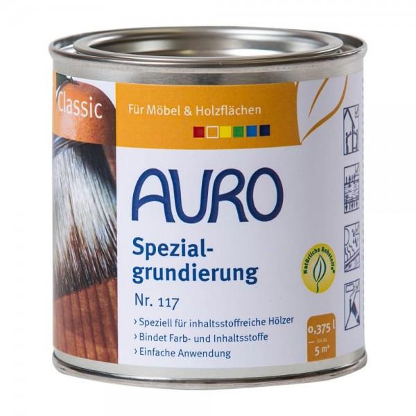 Auro Grundierung - Vorbehandlung für Holzmasten aus Eiche