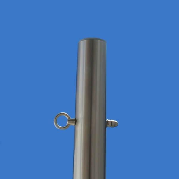 Sonnensegelstange ø70mm, 3mm Wandung mit Augbolzen