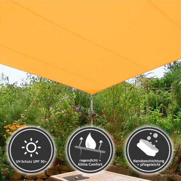 Sonnensegel Quadrat | wasserabweisend DELUXE