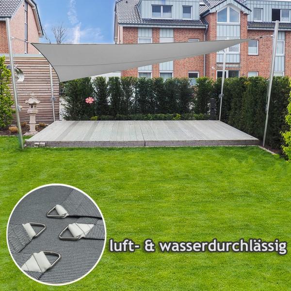 Sonnensegel-Anlage höhenverstellbar freistehend - Komplett   Garten 4 Masten