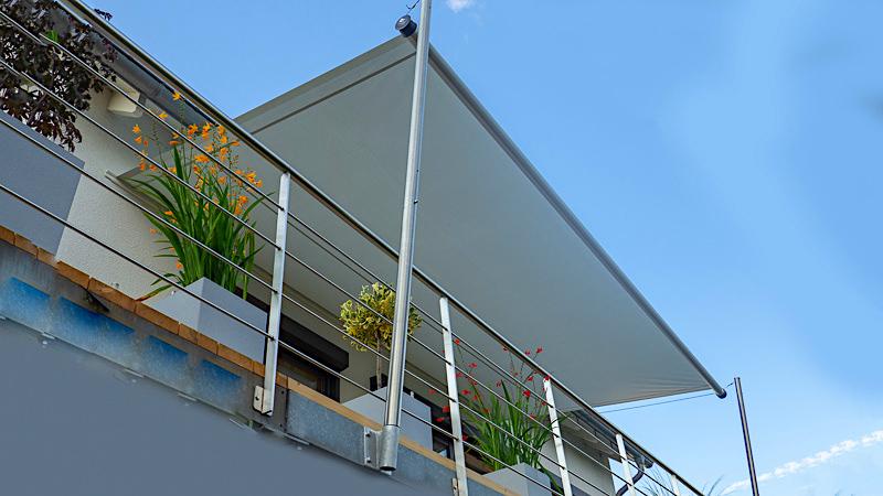 sonnensegel balkon aufrollbar