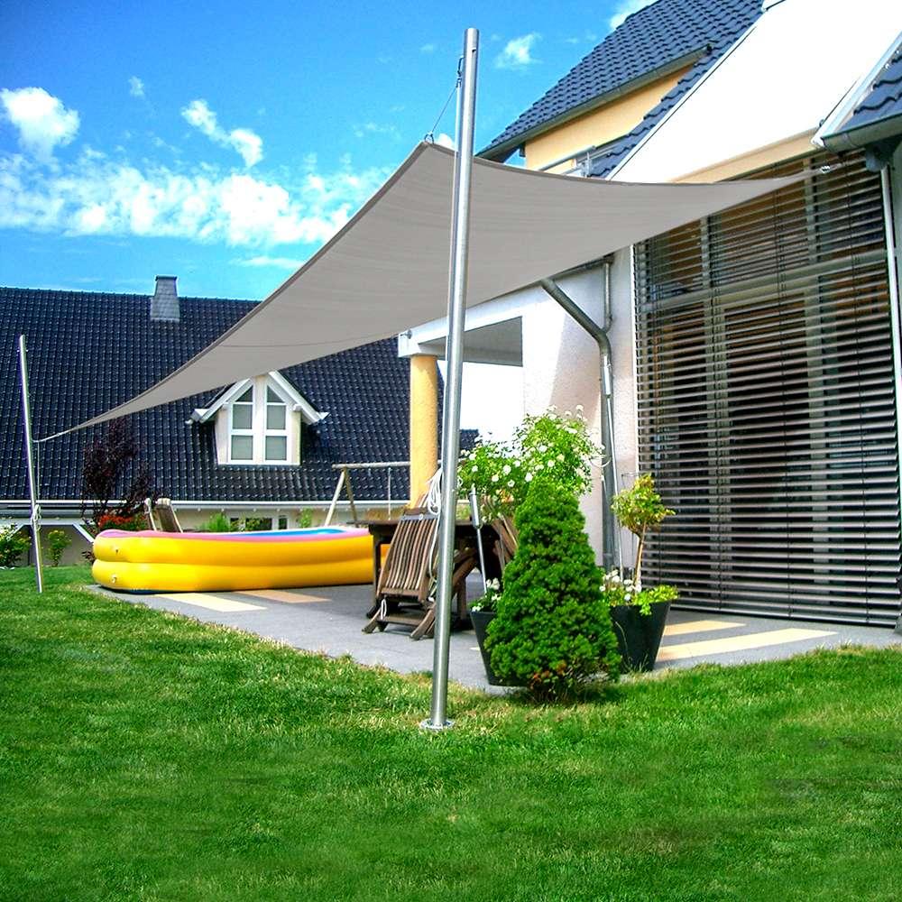Sonnensegel Anlage höhenverstellbar 2000x2000m luftdurchlässig   Komplett    Terrasse 200 Mast/200 Wand