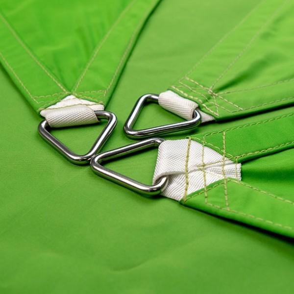 Dreiecksegel nach Maß wasserabweisend » 502x507x612cm - Grasgrün (936650) » Sunsilk Nano   Fundgrube