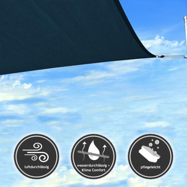 Quadrat-Sonnensegel | wasser- und luftdurchlässig | TEX