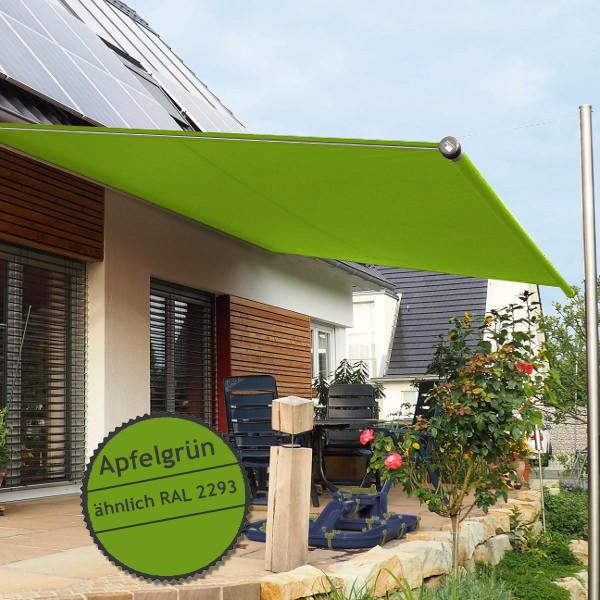 Twistersegel INOX Shadeone® in apfelgrün - die manuell aufrollbare Sonnensegel-Markise