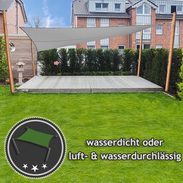 Sonnensegel-Anlage höhenverstellbar freistehend - Komplett | Garten 4 Masten