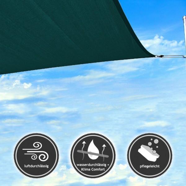 Sonnensegel rechteckig | wasserdurchlässig NET