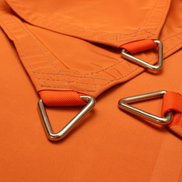 Dreieck-Standardsegel wasserabweisend » 400x400x400cm - Desert Orange » Sunsilk Nano   Fundgrube