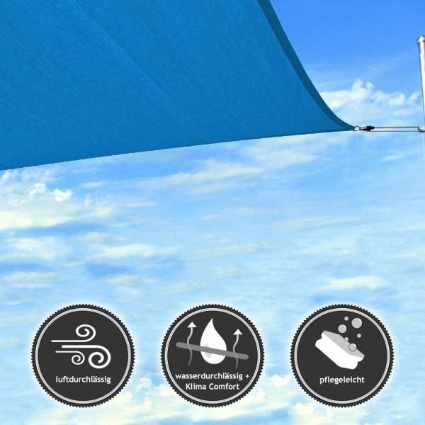 Dreieck-Sonnensegel | wasser- und luftdurchlässig | TEX - 590x590x590cm in Blau (940080) | Lager