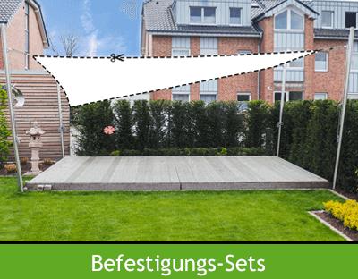 Befestigungs-Sets ohne Segel für Terrasse, Garten oder Kita