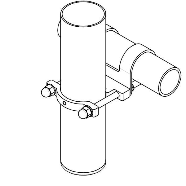 Mast-Befestigungen an Wand und Geländer - für SHADE Inox Sonnensegel