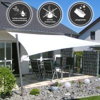 quadrat sonnensegel in gleichschenklig wind und wasserdurchl ssig sol pina. Black Bedroom Furniture Sets. Home Design Ideas