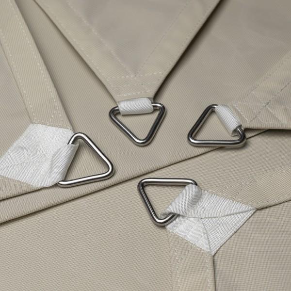 Vierecksegel nach Maß - wasserabweisend - Nano Style - 602x317x403x333cm Elfenbein | Fundgrube