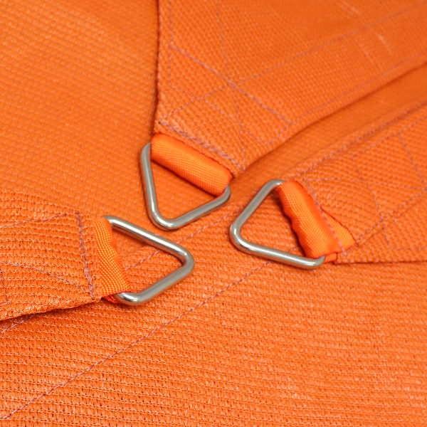 Dreiecksegel nach Maß in wasserdurchlässig » 410x360x400cm - Sunset Orange » SunOtex 940 | Fundgrube