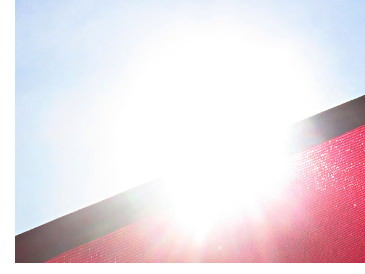 Sonnensegel gegen Sonne