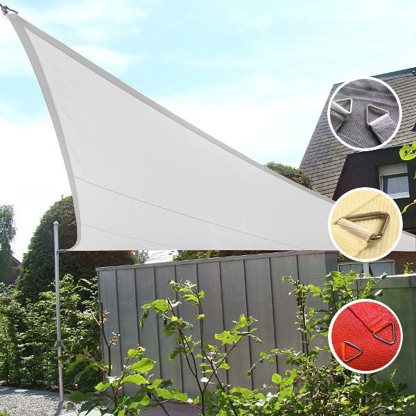 Sonnensegel dreieckig wasserdurchlässig in 5x5x5m