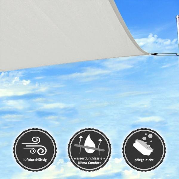 Rechteck Sonnensegel | wasser- und luftdurchlässig TEX