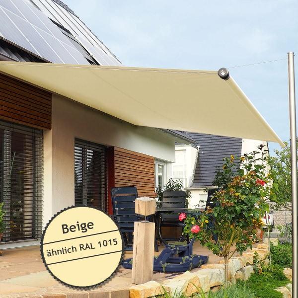 Twistersegel INOX Shadeone® in Beige - die manuell aufrollbare Sonnensegel-Markise