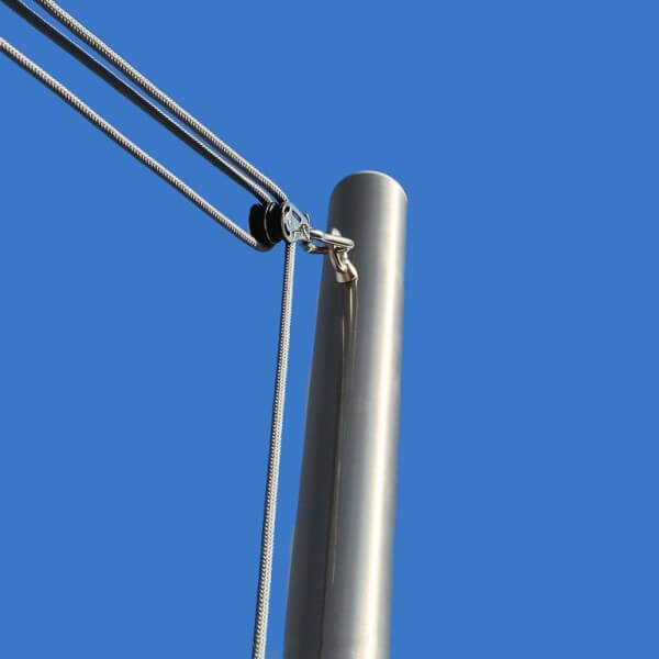 Seilzugstangen für Sonnensegel, ø70mm, mit 3mm Wandung - inkl. Flaschenzug-Set