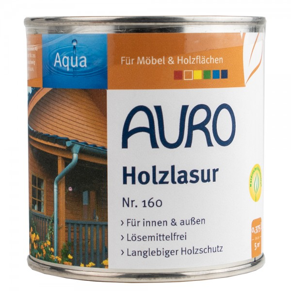 Auro Holzlasur Aqua Eiche hell - Schutzanstrich für Holzmasten aus Eiche