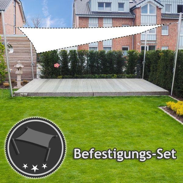 Befestigungs-Set Freistehend höhenverstellbar - Viereck-Segel jeder Größe   4 Masten (ohne Segel)