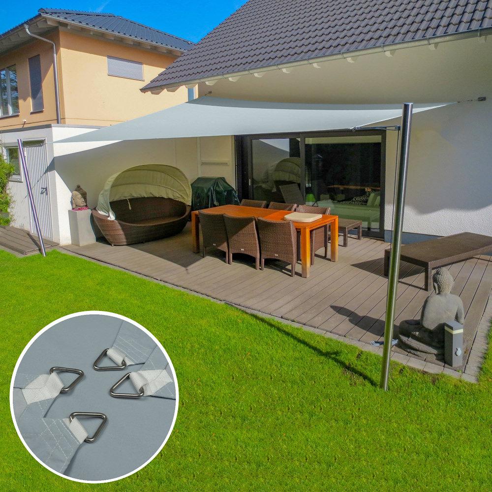 Sonnensegel 20x20m in wasserdicht für Terrasse inkl. Befestigungen ...
