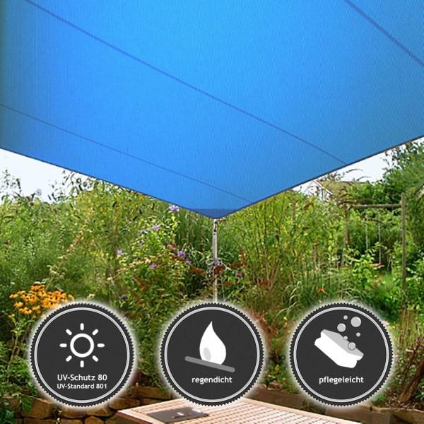 Sonnensegel Quadrat   wasserabweisend RainOtex