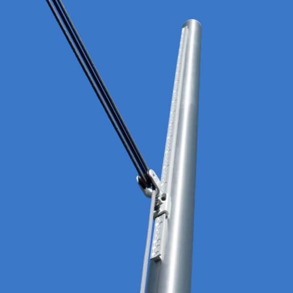 Rohr Mast  Pfosten Edelstahl 60 Bodenhülse 75cm Mast für Sonnensegel 3m 3fach