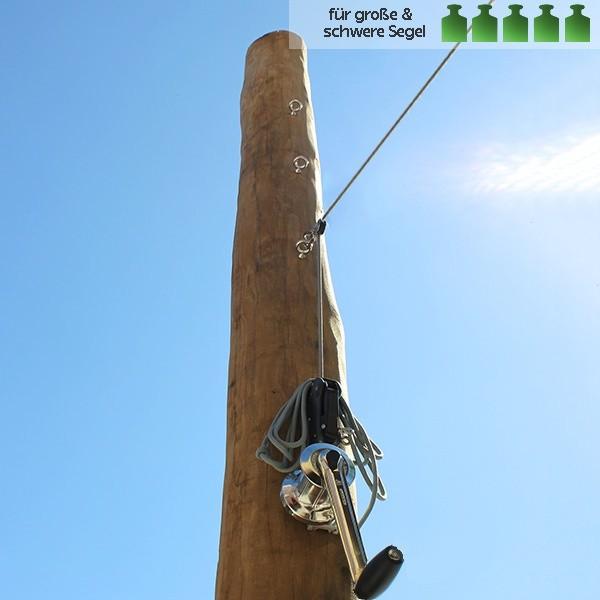 Holzpfosten aus Robinie für Sonnensegel in ø130-ø160mm