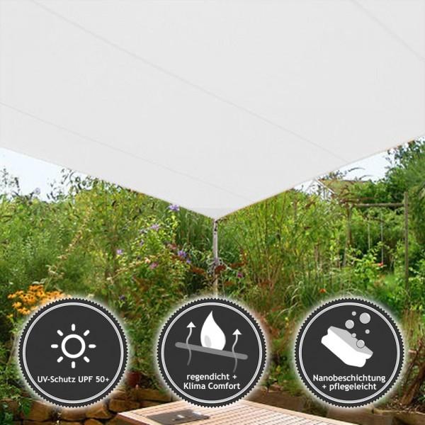 sonnensegel rechteckig in wasserabweisend kaufen pina. Black Bedroom Furniture Sets. Home Design Ideas