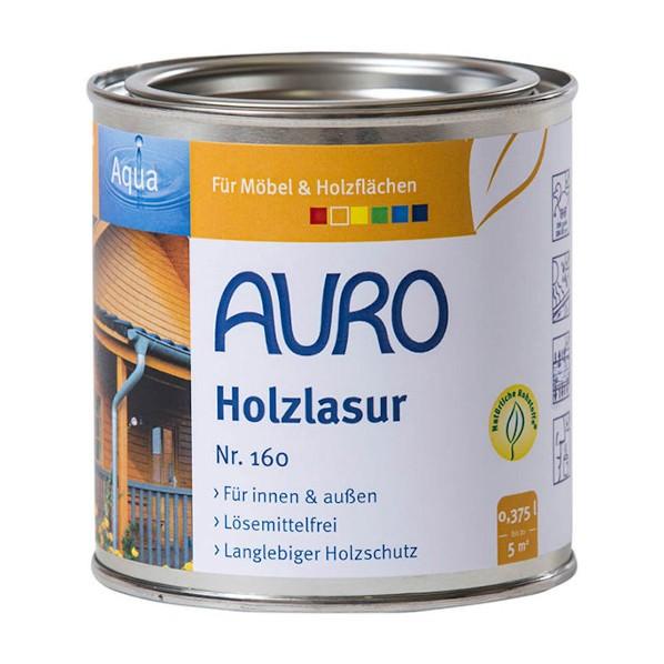 Biologische Holzlasur von Auro 160 Aqua - ökologische Schutzanstrich, innen & außen für Holz